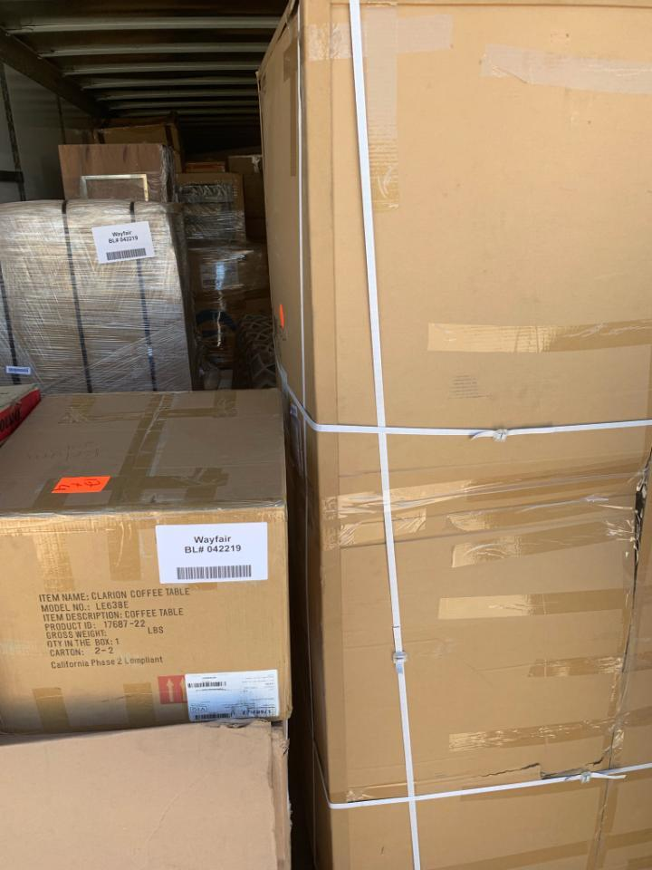 WAYFAIR Furniture Wholesale Loads - Large Items